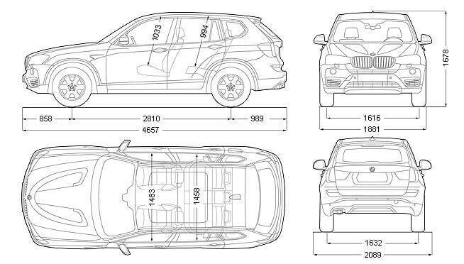 Размеры BMW X3 2015