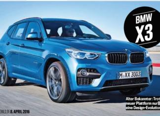 BMW X3 2017 рендеринг